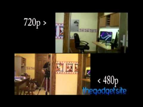 480p versus 720p video tests