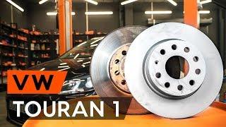 Reemplazar Juego de frenos de disco VW TOURAN: manual de taller