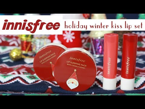 BIYW Review Chapter: #45 INNISFREE HOLIDAY WINTER KISS LIP SET SWATCH & REVIEW