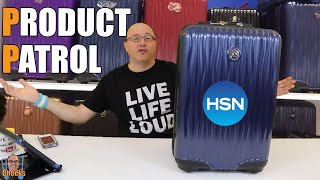 HSN Joy Mangano Travel Carry On: Metallic Set E Lite Travel with Spin Wheels