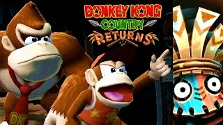 Donkey Kong Country Returns ALL BOSSES (Wii)