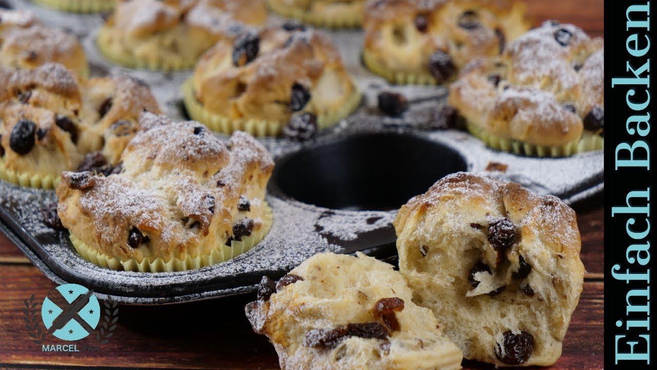 christstollen muffins mini christstollen selber backen youtube. Black Bedroom Furniture Sets. Home Design Ideas
