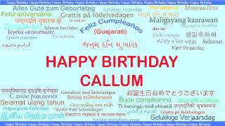 Callum   Languages Idiomas - Happy Birthday