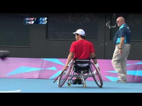 Wheelchair Tennis - GBR vs JPN - Men's Singles Third Round - 1st set - London 2012 Paralympic Games