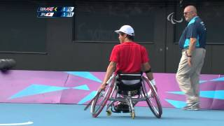 Wheelchair Tennis - GBR vs JPN - Men's Singles Third Round - 1st set - London 2012 Paralympic Games