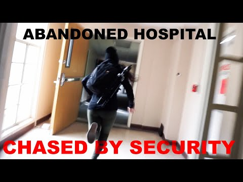 Abandoned Hospital with Power and Morgue - Chased Out by Security!