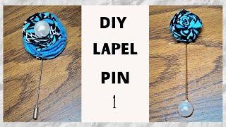 How To Make LAṖEL PIN (METHOD 1)   Diy LAPEL PIN   LAPEL PIN tutorial #lapelpin #ankara