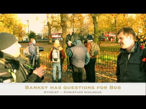 Banksy-style Chats to Bob | Speakers Corner