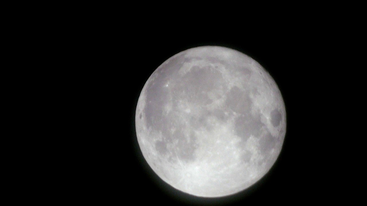 Supermoon Video Of The Moon 3rd December 2017 Youtube