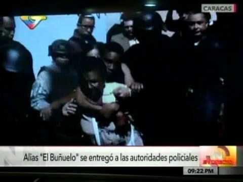 """Así se entregó alias """"el Buñuelo"""" a las autoridades policiales"""