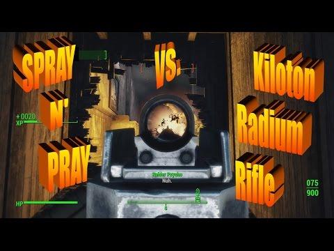 Spray N' Pray vs. Kiloton Radium Rifle [VERY HARD] Gun Race & Glowing Sea | Fallout 4 | Far Harbor
