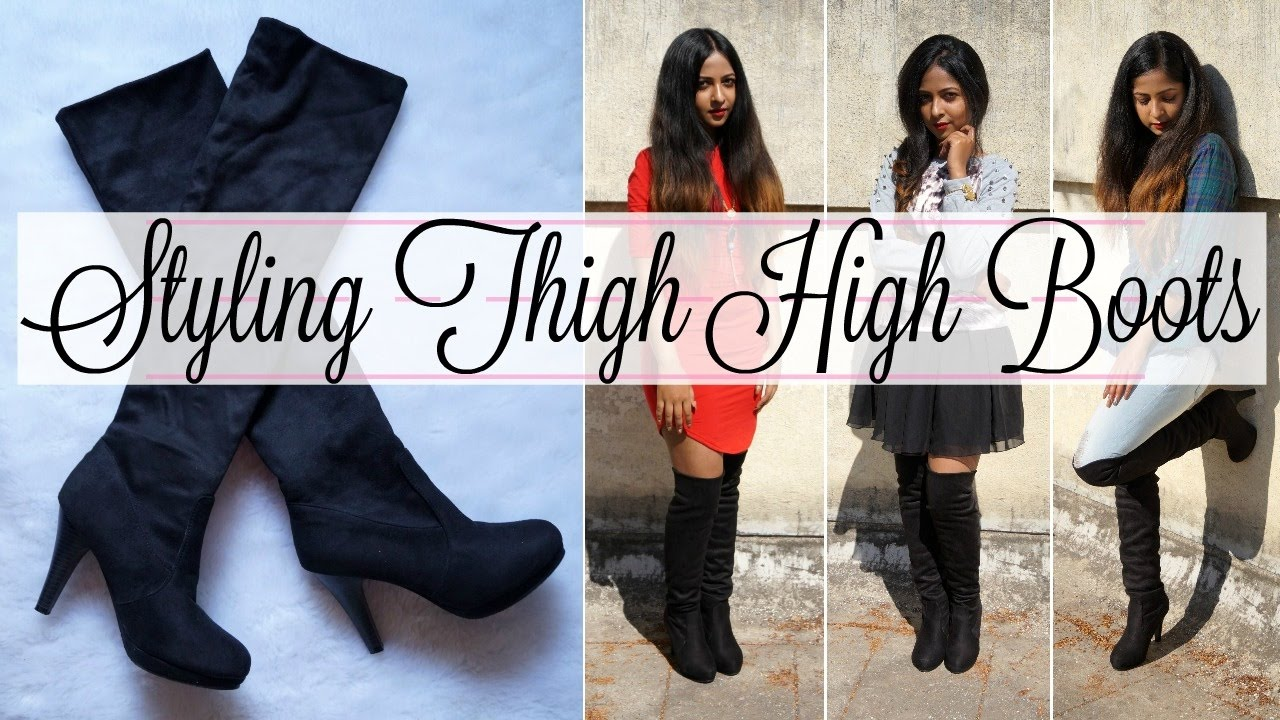 03239718e9a HOW TO  Style Thigh High Boots for Short Girls