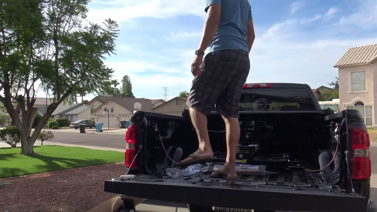 Rv How To And Gear Tyger Tonneau Tri Fold Truck Bed Cover Install 2015 Gmc Sierra 2500hd Duramax Youtube