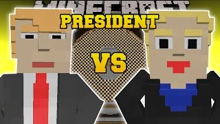 Minecraft: DONALD TRUMP VS HILLARY CLINTON (WHO WILL WIN?) Custom Command