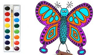 Butterfly Coloring Page #m Drawing and Coloring Butterfly for Children