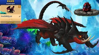 Deathgripper Max Level 150 Titan Mode - New Dragon - Dragons:Rise of Berk New Dreadfall Update