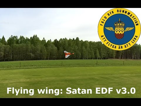 RC flying wing - Satan EDF v3.0 @ Dragsängarna Insjön - FaluRFK.se scratch build rc airplane