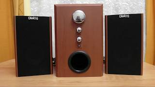 Ремонт акустики dialog w-3000, гуде сабвуфер, немає звуку