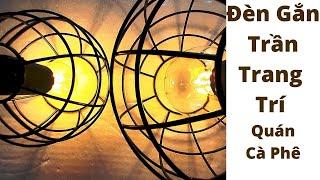Đèn Thả Trần Led Trang Trí Quán Cà Phê, Quầy Bar