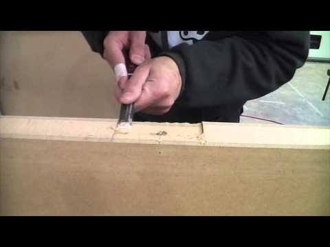 Using A Chisel For Cutting Door Hinge Slots