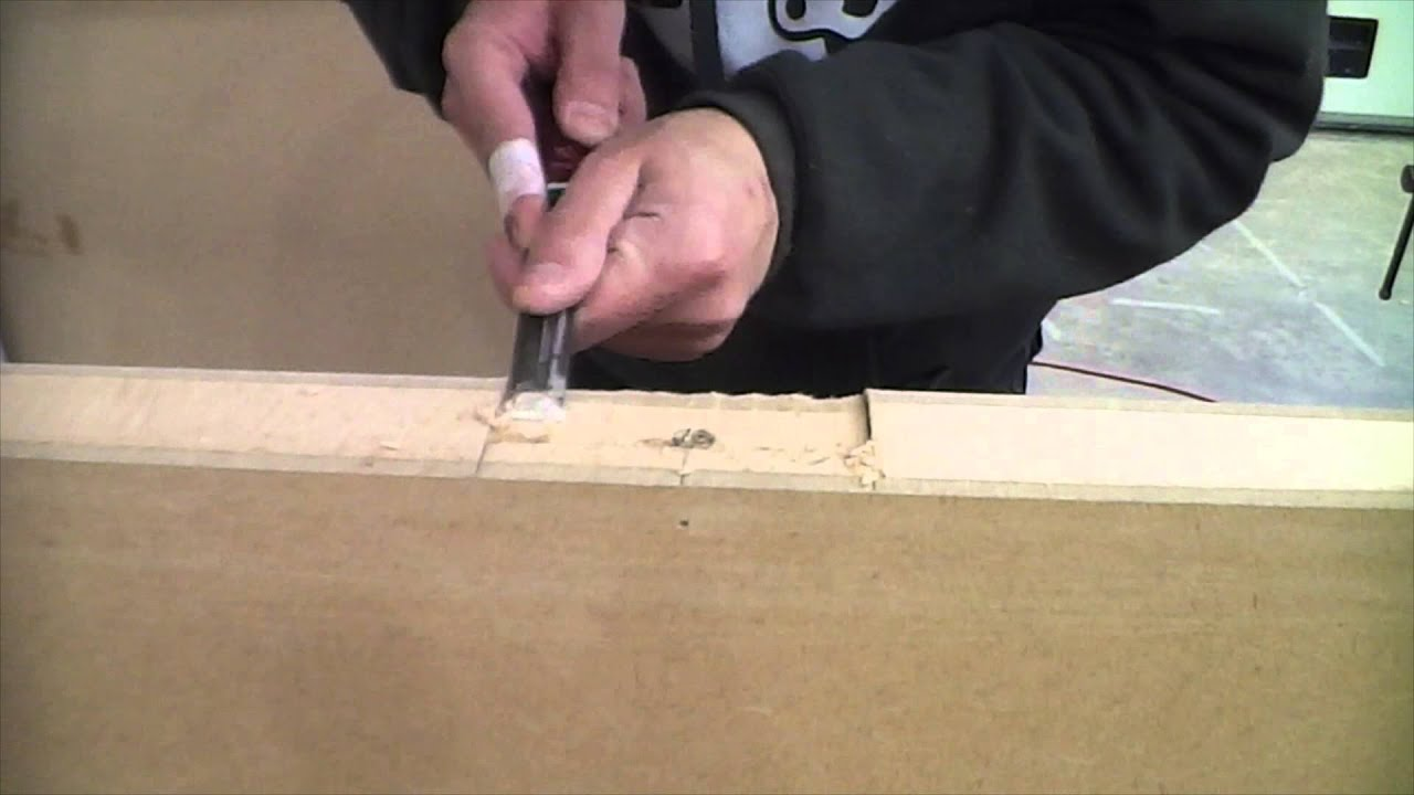 Using a chisel for cutting door hinge slots & Using a chisel for cutting door hinge slots - YouTube