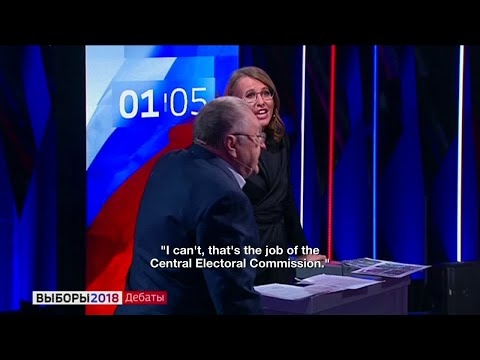 "Russia: ""Whore"", Ultranationalist Leader Zhirinovsky Insults Ksenia Sobchak During Debate"