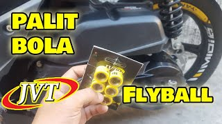 How to Replace Pangggilid (BOLA) JVT Flyball  (Basic Maintenance) MIO i 125