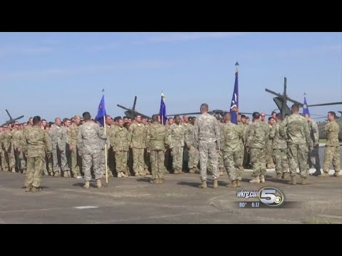 101st Aviation Combat Brigade Stages at Mobile Regional Airport