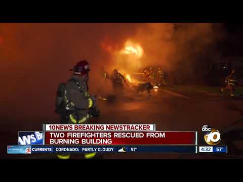 Two firefighters rescued