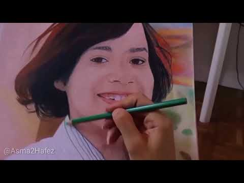 Drawing A Baby With Pastels 2