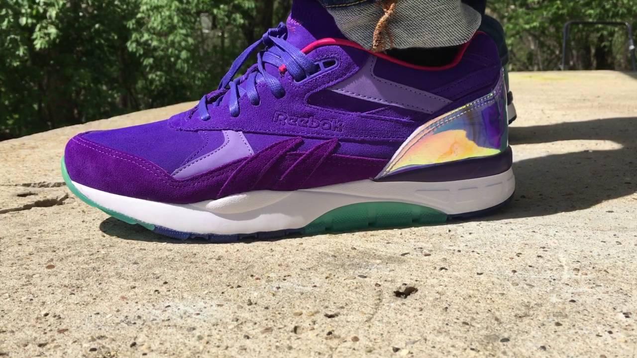 designer fashion 25a2b b4999 Cam ron x Reebok Ventilator (Purple Haze) Sneakers On Feet Review - YouTube