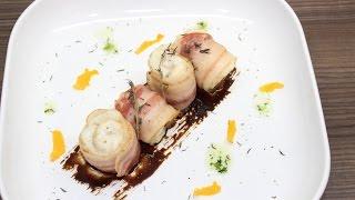 Треска в беконе с черносливом / Wrapped cod in bacon with prunes
