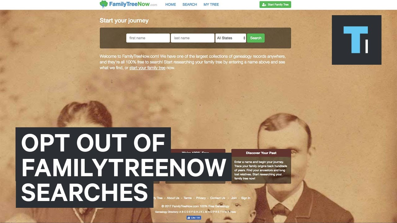 How to opt out of the FamilyTreeNow search results
