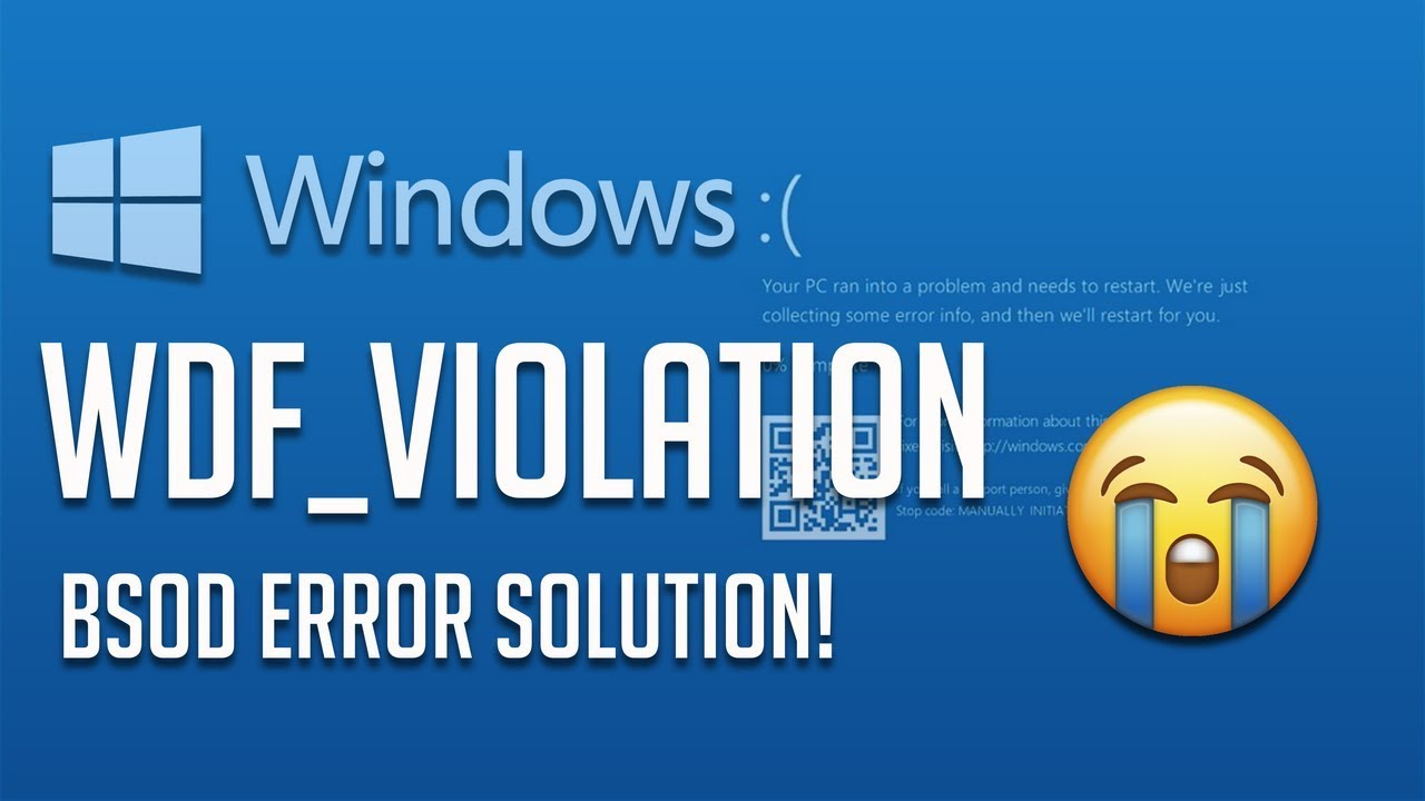 How To Fix Wdf Violation Error In Windows 10 3 Solutions 2020 Youtube