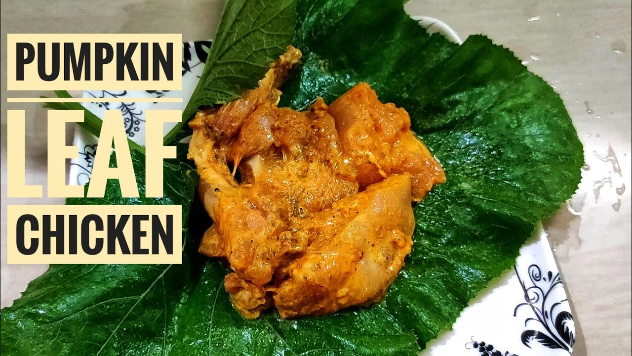 Chicken in Pumpkin Leaf | A Unique Chicken Recipes | Microwave Cooking