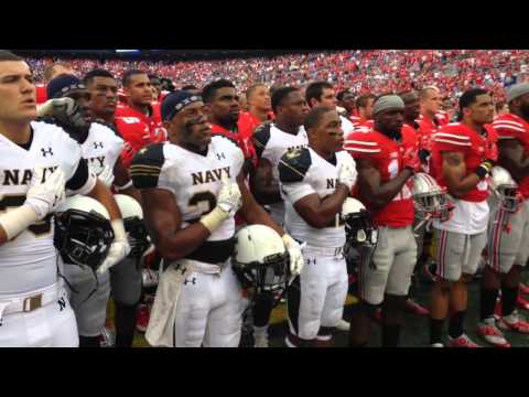 Navy sings alma mater after Ohio State game, joined by the Buckeyes