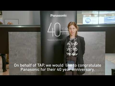 Panasonic Avionics 40 Year Anniversary - TAP Air Portugal's Birthday Wishes