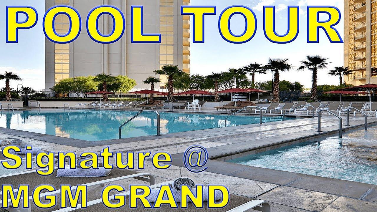 The Signature Mgm Grand Pool Tour Youtube