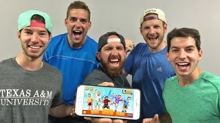 iPhone Game Battle | Dude Perfect 2(The BATTLE is ON! ▻ PLAY FREE on iPhone -- http://smarturl.it/DudePerfect2 ▻ PLAY FREE on Android -- http://smarturl.it/DudePerfect2 ▻ PLAY FREE on ..., 2015-06-04T23:31:13.000Z)