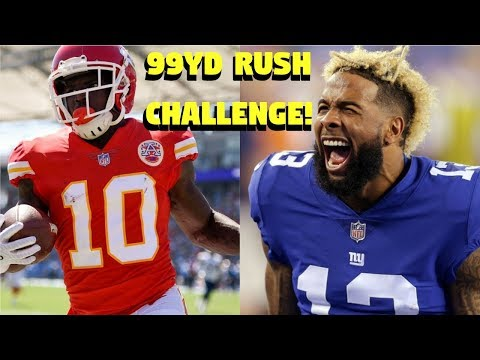 TYREEK HILL VS OBJ @ RUNNING BACK! WHO CAN GET A 99YD RUSH FIRST?!?