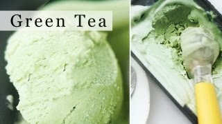 Green Tea Ice Cream, No-Machine Matcha Ice Cream Recipe 그린티 아이스크림 만들기 - 한글 자막