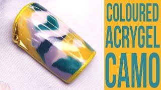 Colour Mixed AcryGel Camo / Camouflage Nail Art