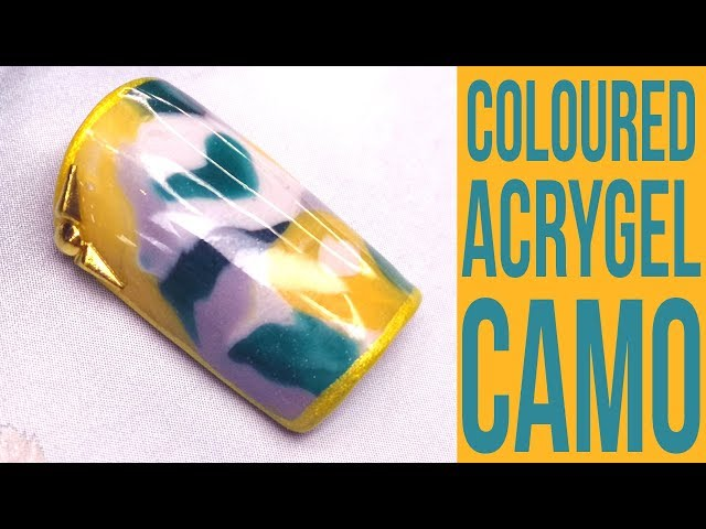 Colour Mixed AcryGel Camo / Camouflage Nail Art
