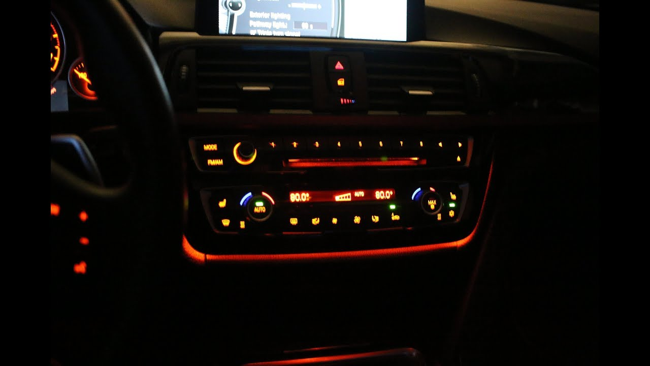 BMW F30 retrofit LCI Illuminated AC and Radio panel and