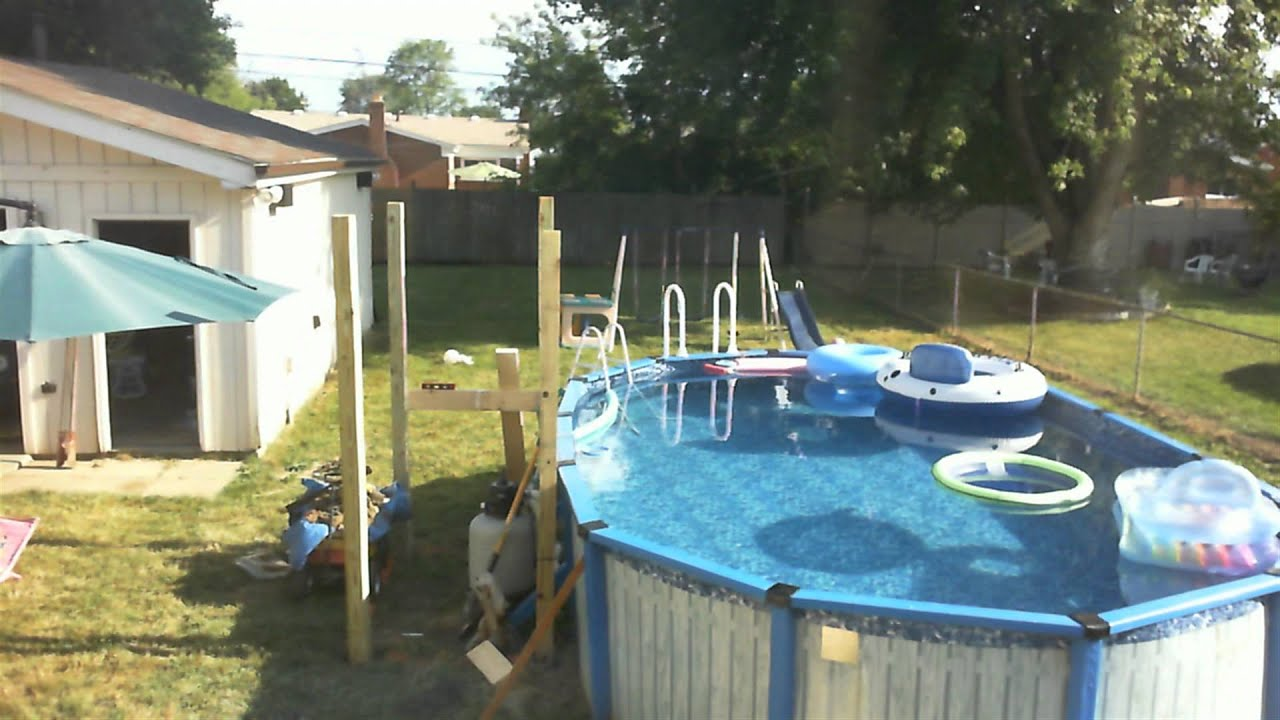 Pool deck build day 1 youtube for Pool deck design tool