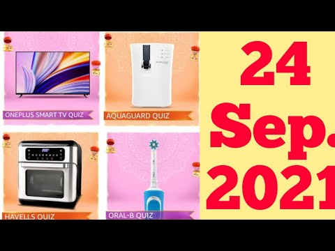 Amazon OnePlus Smart TV, Aquaguard Quiz Oral-B And Havells Quiz Today Answers | 24 September 2021