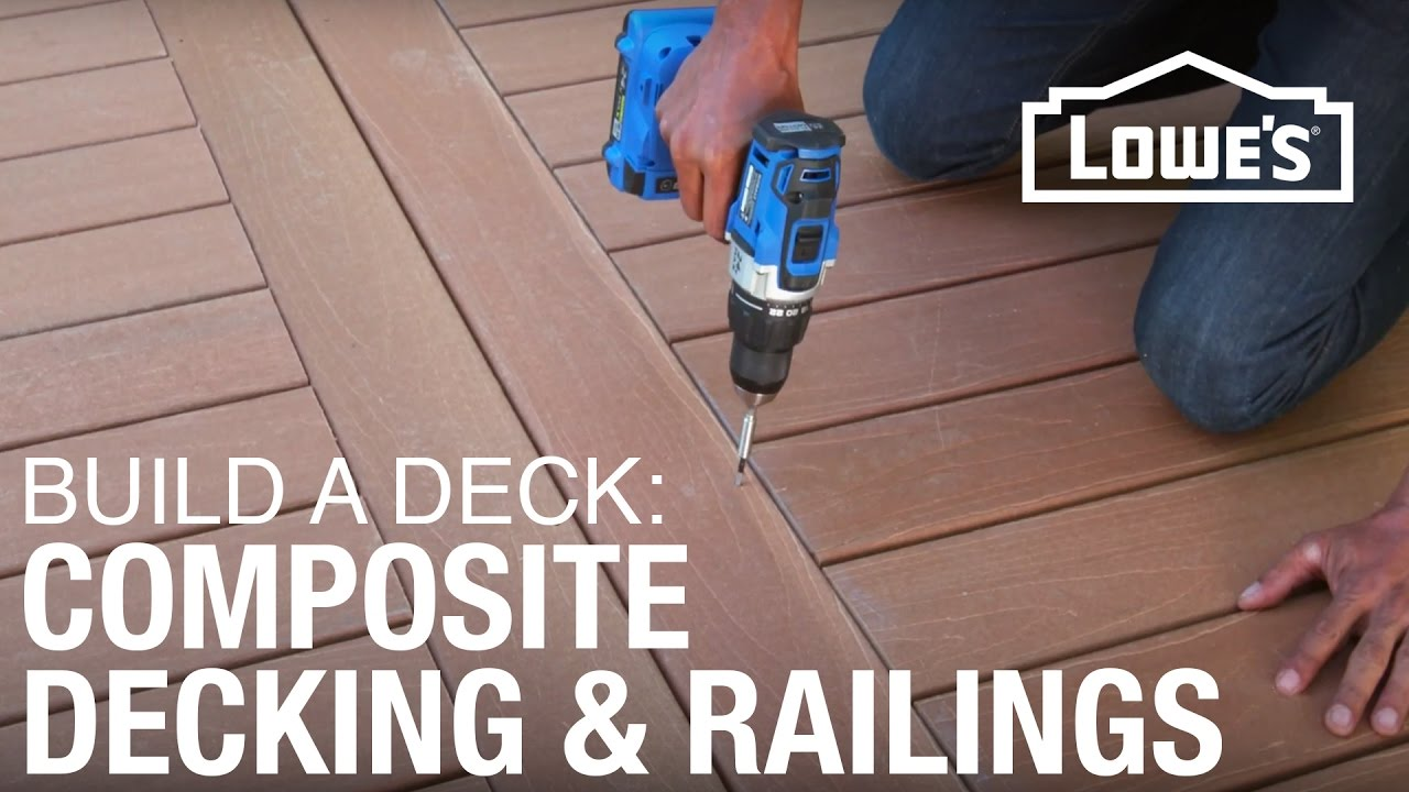 How To Build A Deck Composite Decking Amp Railings 3 Of 5