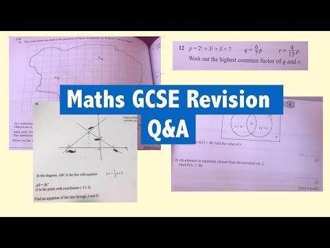 Maths Gcse Revision Qa Venn Diagrams Linear Equations Loci