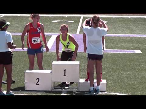 Hope Thomas from Blum High School awarded 1st place in 300 meter hurdles at Regionals 4-30-16
