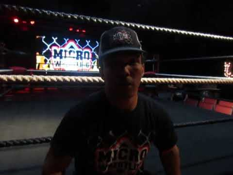 Interview with Hot Rod of Micro Wrestling Federation at Boca Black Box in South Florida